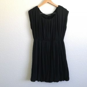 Black Top with Cinched Waist